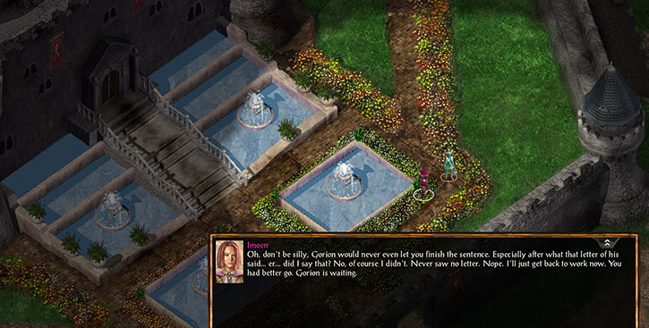 Baldur's Gate video game - Candlekeep - Courtyard - Fountains