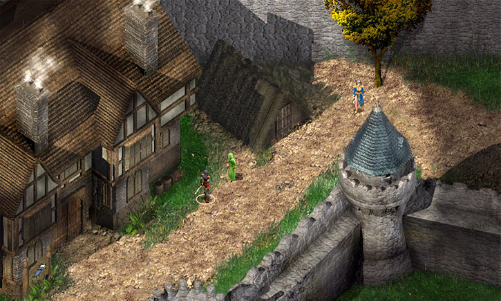 Baldur's Gate video game - Candlekeep - Courtyard - Inn