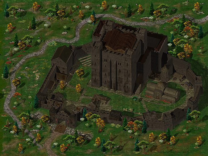 Friendly Arms Inn (Baldur's Gate) game map
