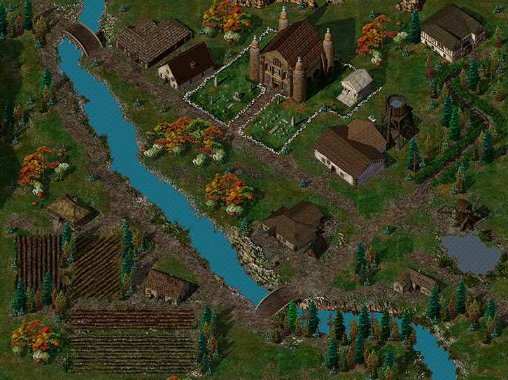 Baldur's Gate - Nashkel - Big general view - Nearinfinity