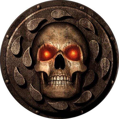Badur's gate video game logo enhanced edition