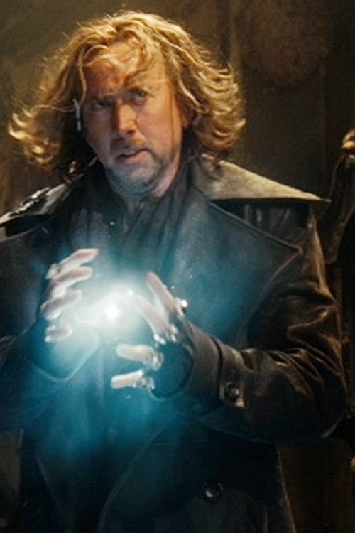 Balthazar Blake (Nicolas Cage in Disney's The Sorcerer's Apprentice) preparing plasma bolt spell