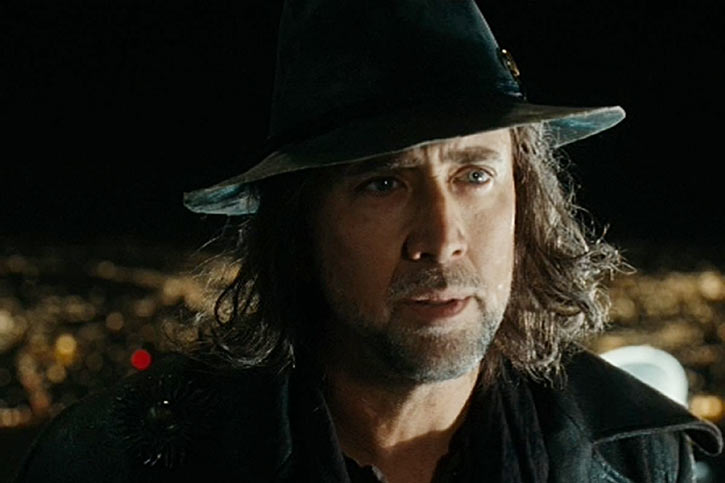 Balthazar Blake (Nicolas Cage in Disney's The Sorcerer's Apprentice) with black hat