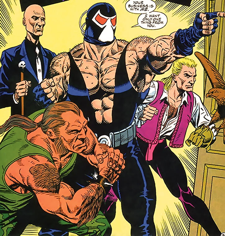 Bane and his lieutenants burst in