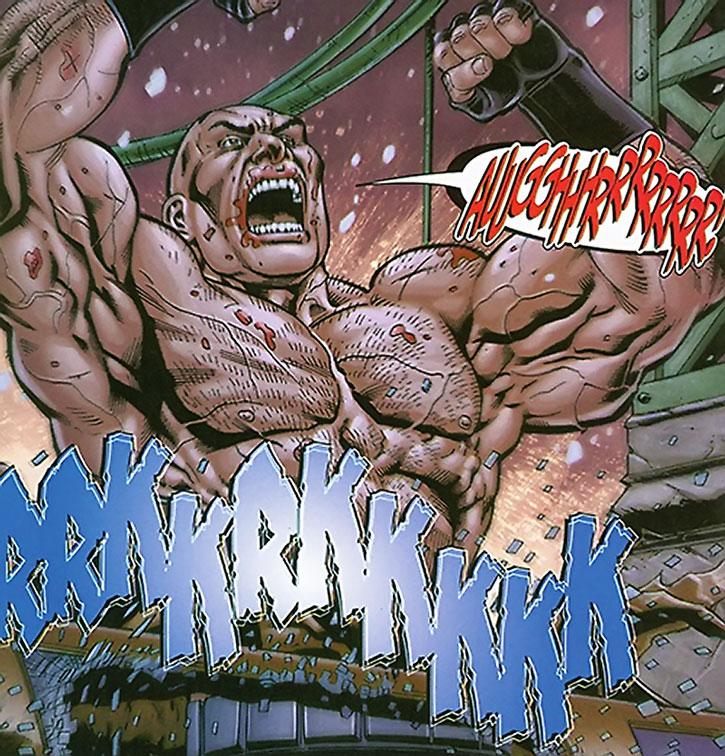 Bane overdosing on Venom