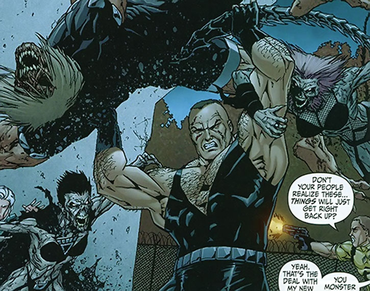 Bane fighting the Black Lanterns