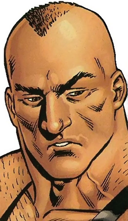 Bane of the Secret 6 (DC Comics) face closeup