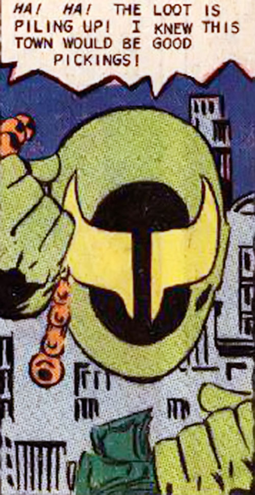 Banshee (Question enemy) (Charlton Comics) face closeup