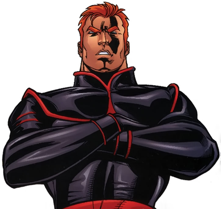 Banshee wearing a X-Corps uniform