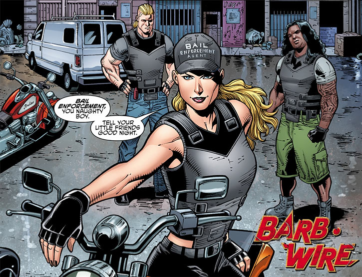Barb Wire (Dark Horse Comics) in 2015 with vest and baseball cap