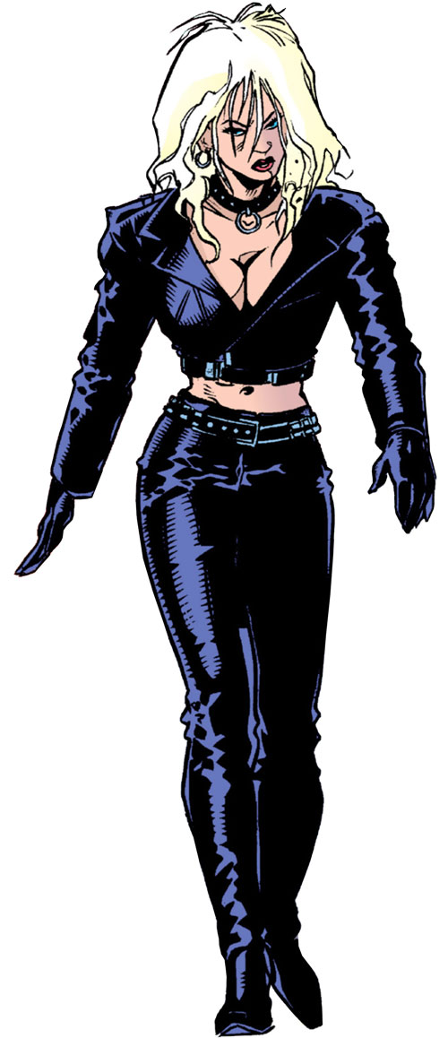 Barb Wire (Dark Horse Comics) in violet leathers