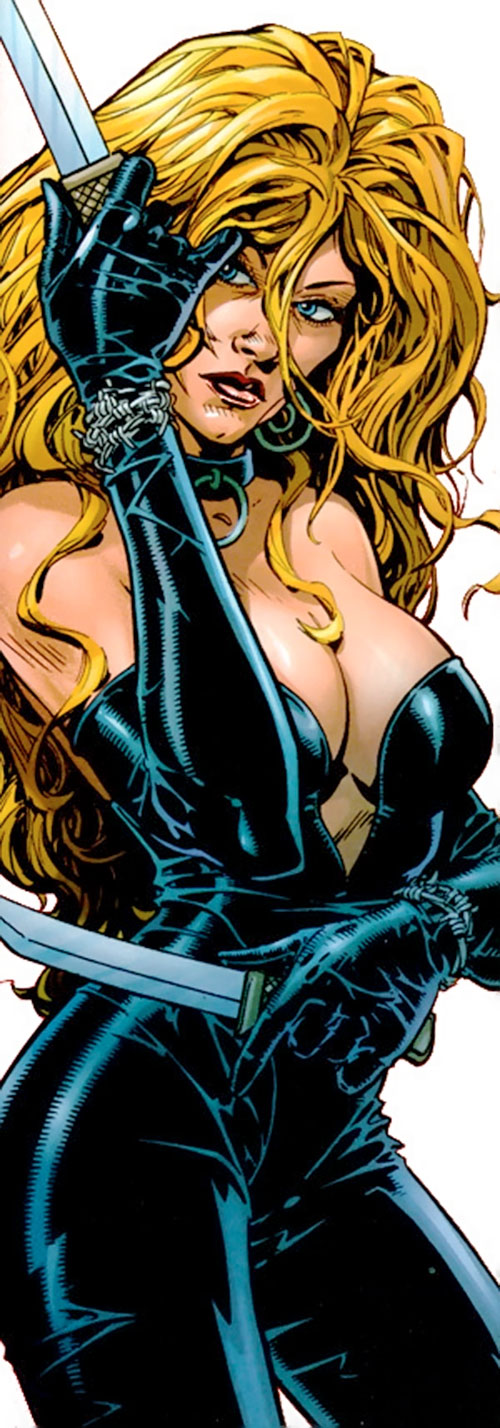 Barb Wire (Dark Horse Comics) with paired knives