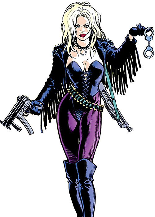 Barb Wire (Dark Horse Comics) jiggling handcuffs