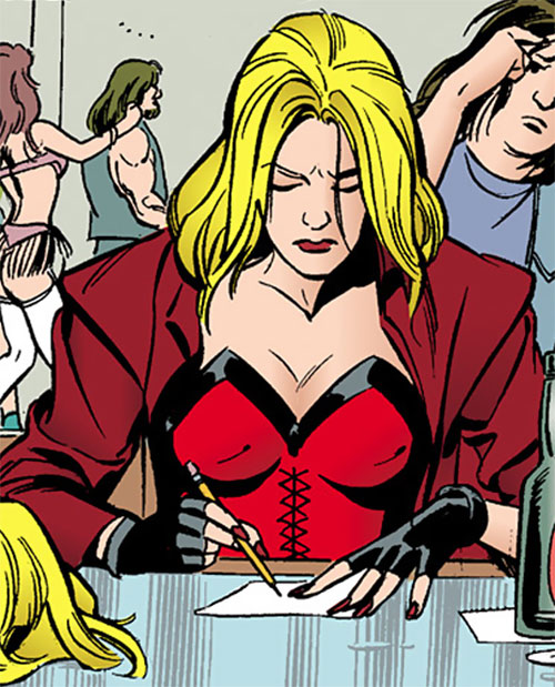 Barb Wire (Dark Horse Comics) with a red bustier