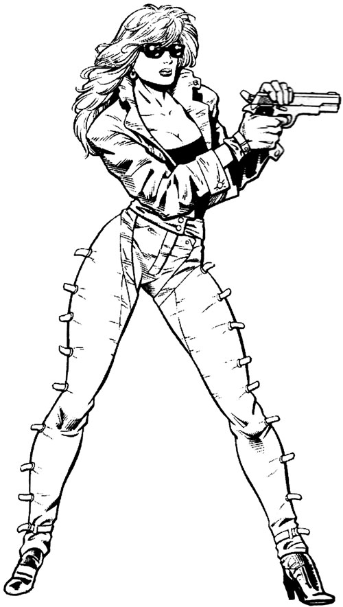 Barb Wire (Dark Horse Comics) in black and white