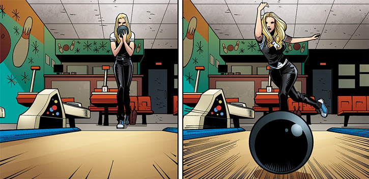 Barb Wire (Dark Horse Comics) in 2015, bowling