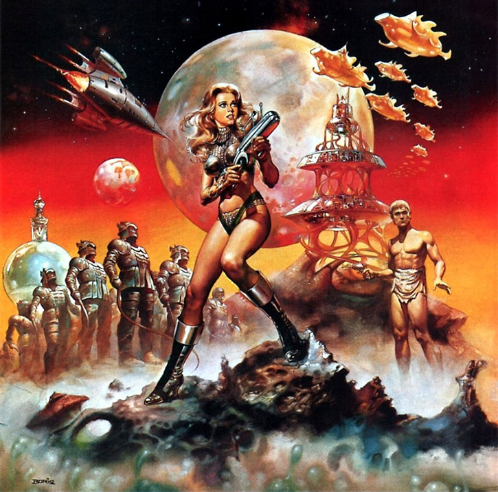 Barbarella movie poster by Boris Vallejo