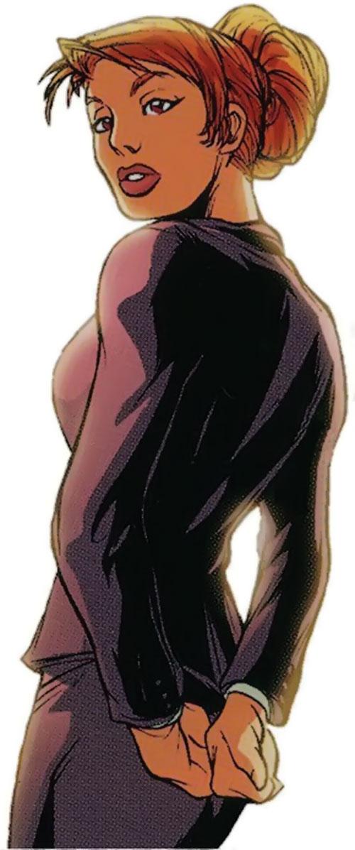 Barbie Q (Spyboy enemy) (Peter David comics) in a suit