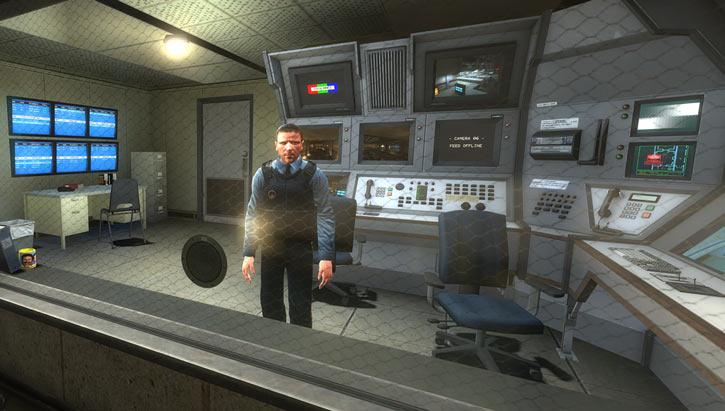 Black Mesa (Half-Life remake) screenshot of a guard post