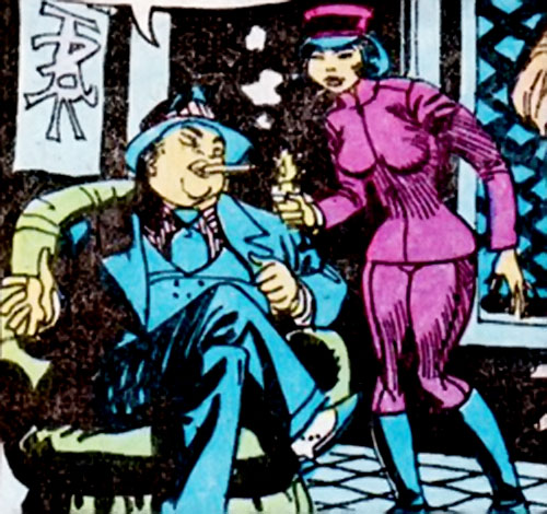Barney Ling (Richard Dragon character) (DC Comics) and a female chauffeur
