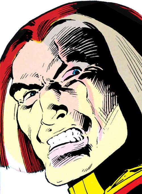 Baron Bedlam scarred face closeup