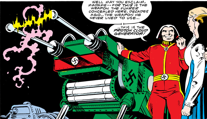 Baron Bedlam (Outsiders enemy) (DC Comics) with the proton cloud generator