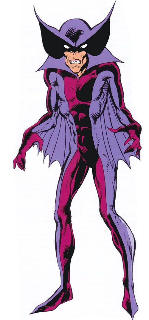 Baron Blood from the 1983 Marvel Comics Handbook