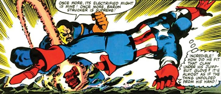 Baron Strucker fights Captain America