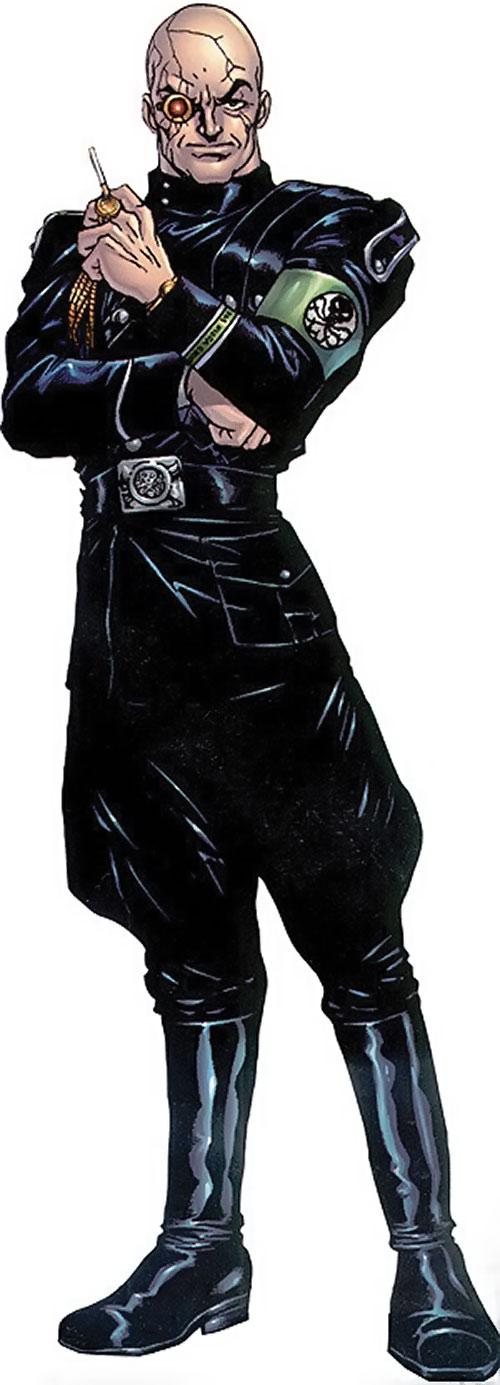 Baron Strucker (Marvel Comics) in a black Nazi Hydra uniform
