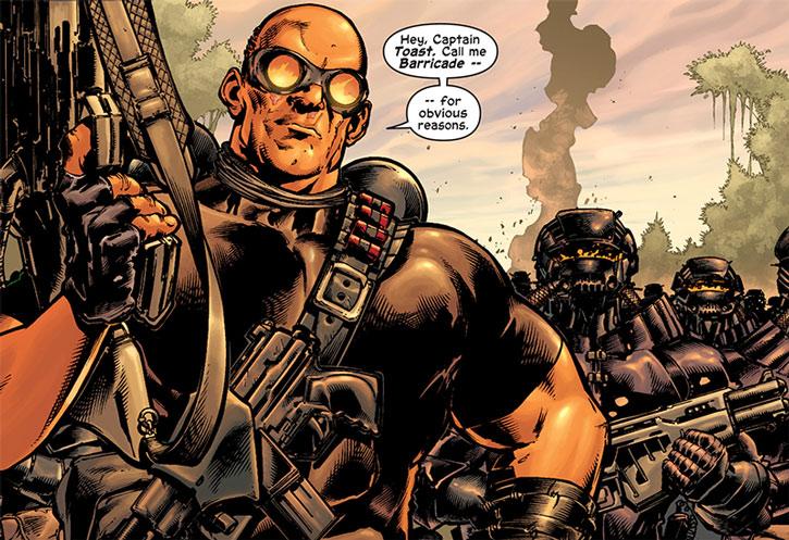 Barricade and his men ambush Captain America