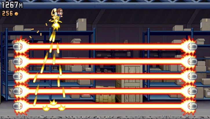 Jetpack Joyride game screenshot 1/4