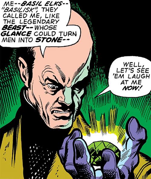 Basil Elks - Human form of the Basilisk - Marvel Comics