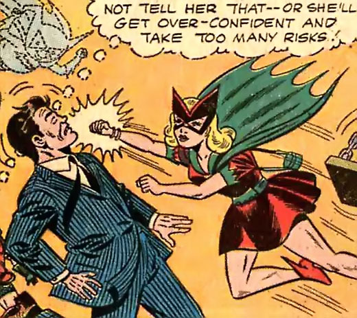 Bat-Girl punches a crook