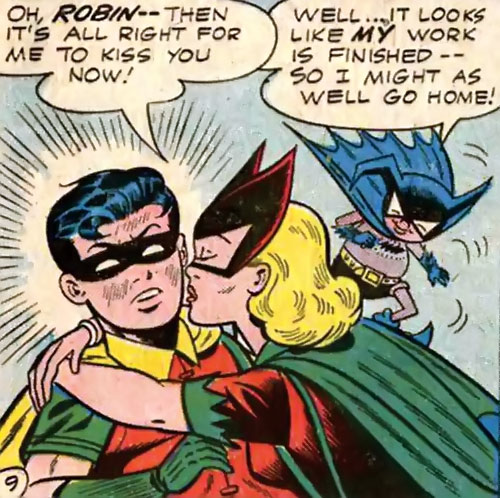 Bat-Girl, Robin, Bat-Mite