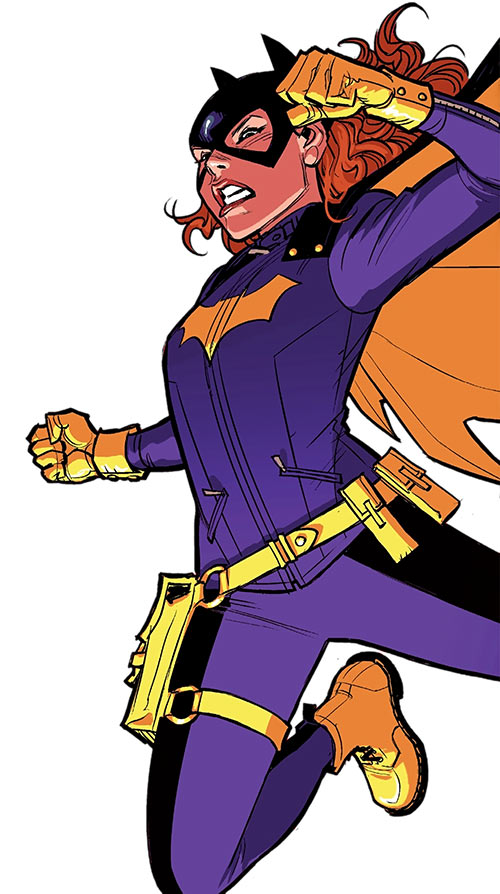 Batgirl of Burnside - DC Comics - Barbara Gordon - Charging leap