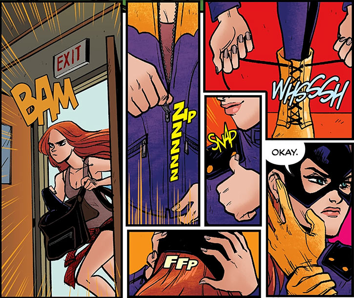 Batgirl of Burnside - DC Comics - Barbara Gordon - Suiting up costume