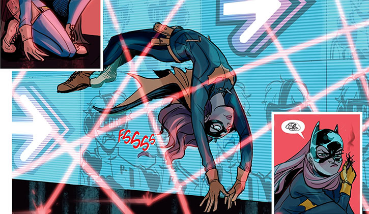 Batgirl of Burnside - DC Comics - Barbara Gordon - Dodging laser grid