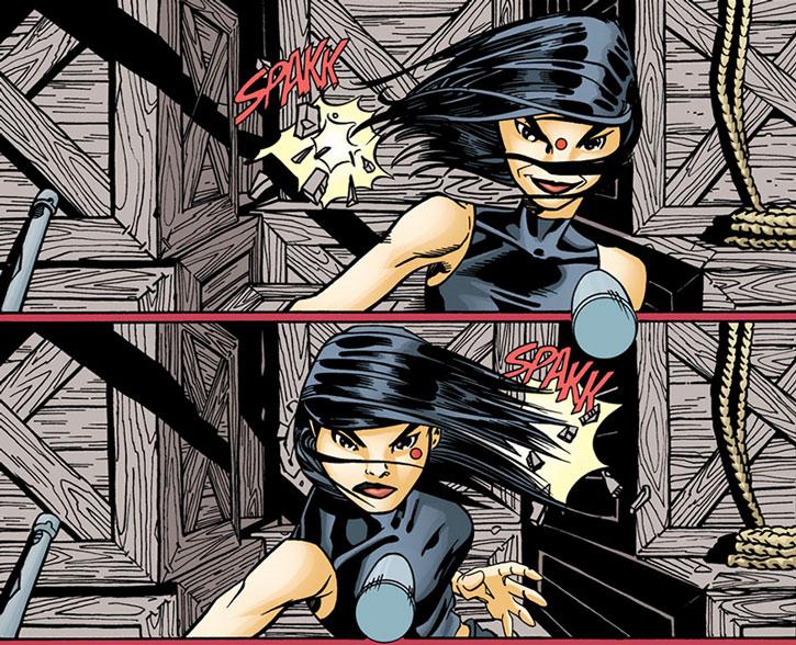 Batgirl (Cassandra Cain) dodging bullets part 2