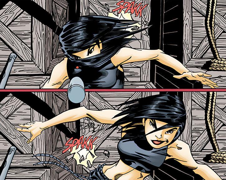 Batgirl (Cassandra Cain) dodging bullets part 1