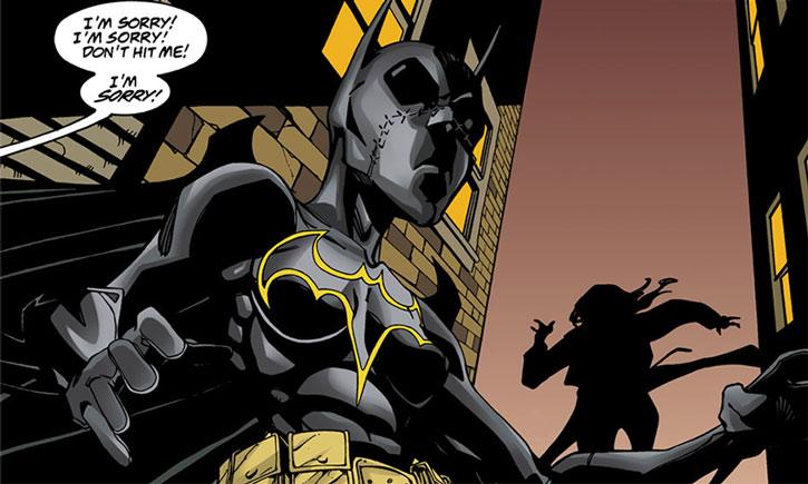 Batgirl (Cassandra Cain) stops a mugging