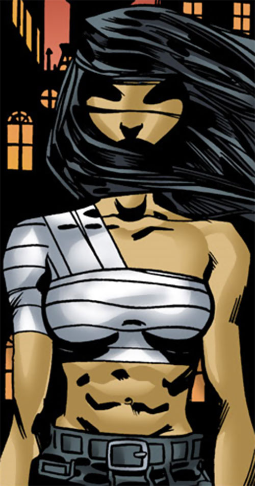 Batgirl (Classic Cassandra Cain) (DC Comics) with a bandaged chest