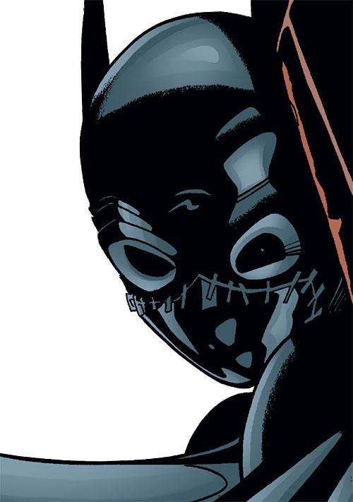 Batgirl (Classic Cassandra Cain) (DC Comics) peering from a corner