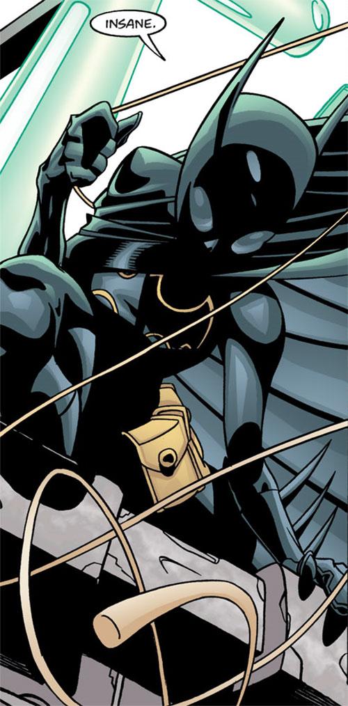 Batgirl (Classic Cassandra Cain) (DC Comics) with a twisting swingline