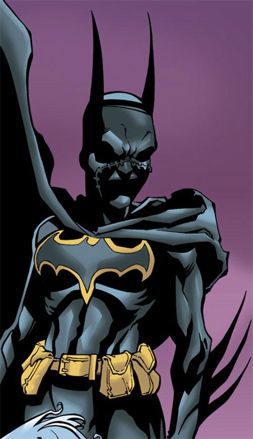 Batgirl (Classic Cassandra Cain) (DC Comics) and a violet sky