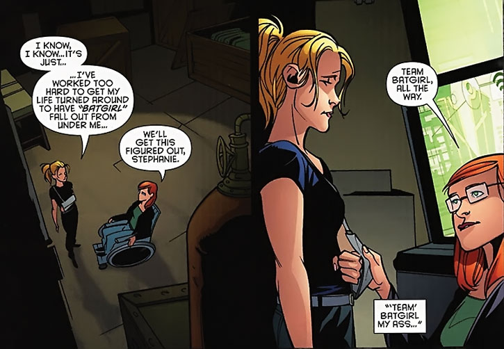 Batgirl (Stephanie Brown) and Barbara Gordon