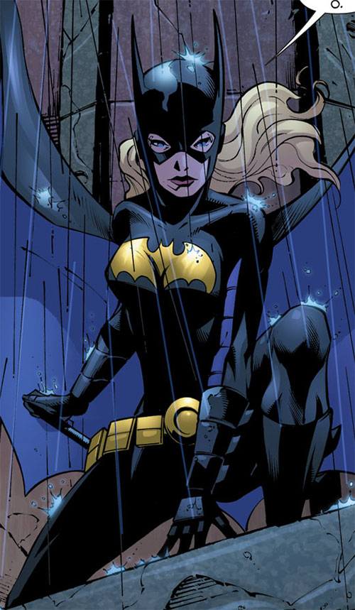 Batgirl (Stephanie Brown) (DC Comics) in rain at night