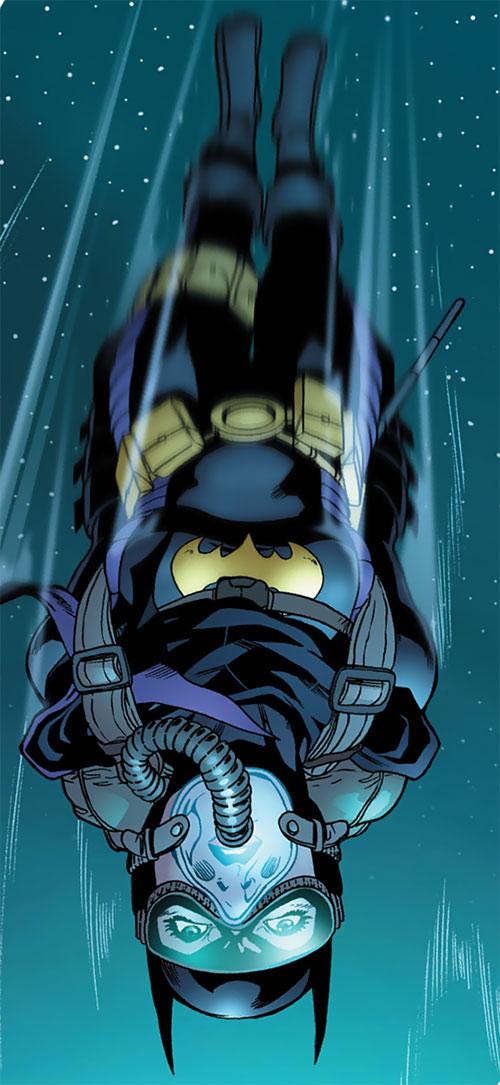 Batgirl (Stephanie Brown) (DC Comics) high-altitude parachute jump