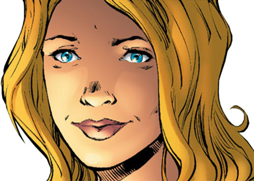 Batgirl (Stephanie Brown) (DC Comics) happy face closeup