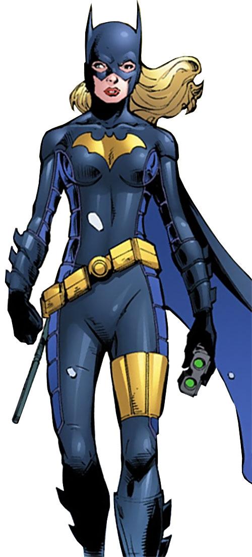 Batgirl (Stephanie Brown) (DC Comics) walking with binoculars