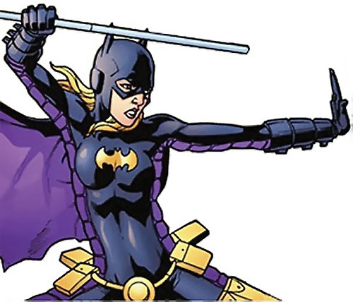 Batgirl (Stephanie Brown) (DC Comics) fighting with her staff